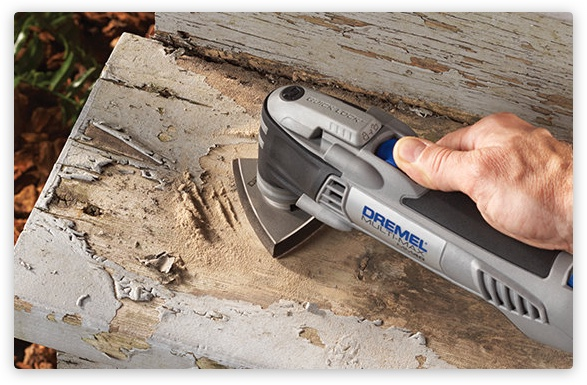 Person using Dremel to sand